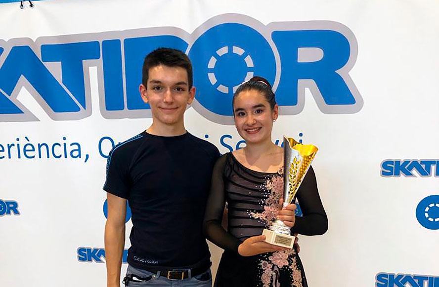 Arnau Pérez campió d'Espanya i  Berta Salvia campiona de Catalunya. Magnífics resultats dels patinadors/res del CPA Tona